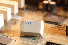 蓝色编码计算机深深层状屏幕 免版税库存图片