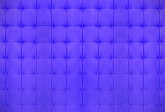 蓝色缝制的皮革 免版税图库摄影