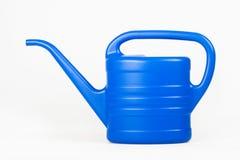 蓝色罐浇灌 免版税库存照片