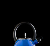 蓝色罐茶 免版税库存图片
