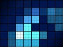 蓝色网格图形 免版税库存照片