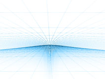 蓝色网格模板 免版税图库摄影