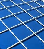 蓝色网格白色 库存图片