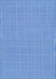 蓝色网格纸张 库存照片