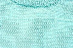 蓝色羊毛纹理 免版税库存照片