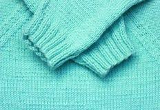 蓝色羊毛纹理 库存图片