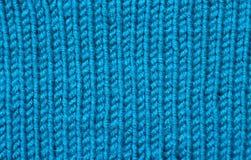 蓝色羊毛纹理 库存照片