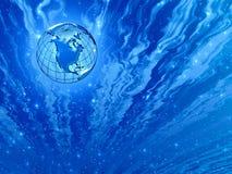 蓝色美妙的行星天空 免版税库存图片