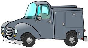 蓝色老卡车工作 免版税库存图片