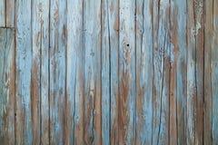 蓝色老墙壁木头 免版税库存图片