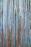 蓝色老墙壁木头 库存图片