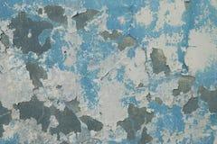 蓝色老墙壁纹理 库存图片