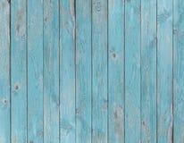 蓝色老木板条纹理或背景 免版税库存图片