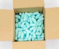 蓝色聚苯乙烯泡沫塑料药丸 免版税库存图片