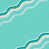 蓝色背景和框架与波浪 免版税图库摄影
