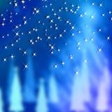 蓝色背景新年和圣诞节 库存图片