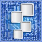 蓝色背景的电子委员会 免版税库存照片