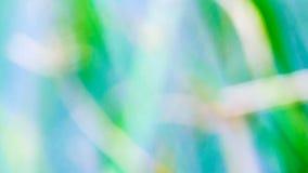 蓝色背景绿草,迷离 库存图片