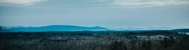 蓝色背脊山在北卡罗来纳 库存图片