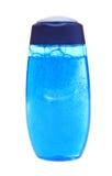 蓝色胶凝体查出的阵雨 库存照片