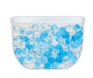 蓝色胶凝体芬芳空气清新剂,卫生间防臭剂 免版税图库摄影