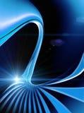 蓝色能源光芒 皇族释放例证