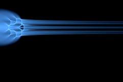 蓝色能源脉冲 免版税图库摄影