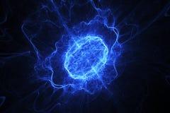 蓝色能量长圆形 免版税库存图片