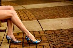 蓝色脚跟 免版税库存照片
