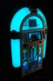 蓝色自动电唱机 免版税库存照片