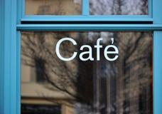 蓝色自助餐厅 免版税库存照片