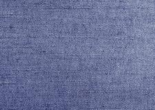 蓝色自然纺织品织地不很细背景  免版税库存照片