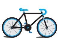 蓝色自行车 免版税库存照片