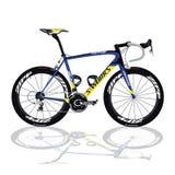 黑&蓝色自行车 免版税库存图片