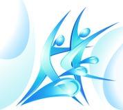 蓝色舞蹈演员eco图标 库存图片