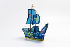 蓝色船灯笼 库存图片