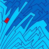蓝色艺术背景 免版税库存图片
