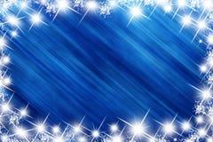 蓝色节假日星形 免版税库存图片
