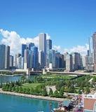 蓝色芝加哥地平线 库存图片