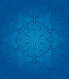 蓝色花卉无缝的patterm 库存图片