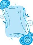 蓝色花卉框架 免版税库存照片