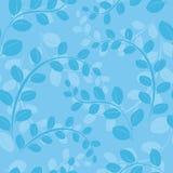 蓝色花卉模式无缝的向量 库存照片