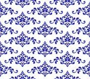 蓝色花卉模式 库存图片