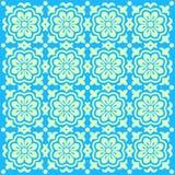 蓝色花卉模式 皇族释放例证