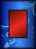 蓝色花卉红色 免版税库存图片