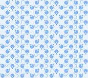 蓝色花卉纹理 免版税库存图片