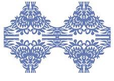 蓝色花卉装饰葡萄酒 免版税库存照片