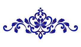 蓝色花卉装饰 免版税库存图片