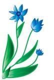 蓝色花向量 皇族释放例证