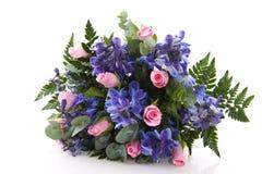 蓝色花束粉红色 库存图片
